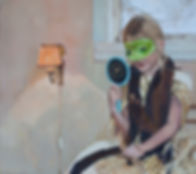 Pia Ingelse Mirror me. Olja på pannå.66x74cm.2013
