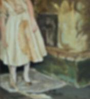 Pia Ingelse. Dark Smell  olja på pannå 53x58cm  2012