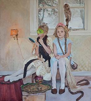 Pia Ingelse. Scene one. Olja på pannå.110x122cm.2013