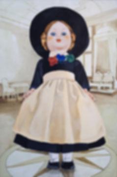 Pia Ingelse Mor i hatt. Oljapå duk2010