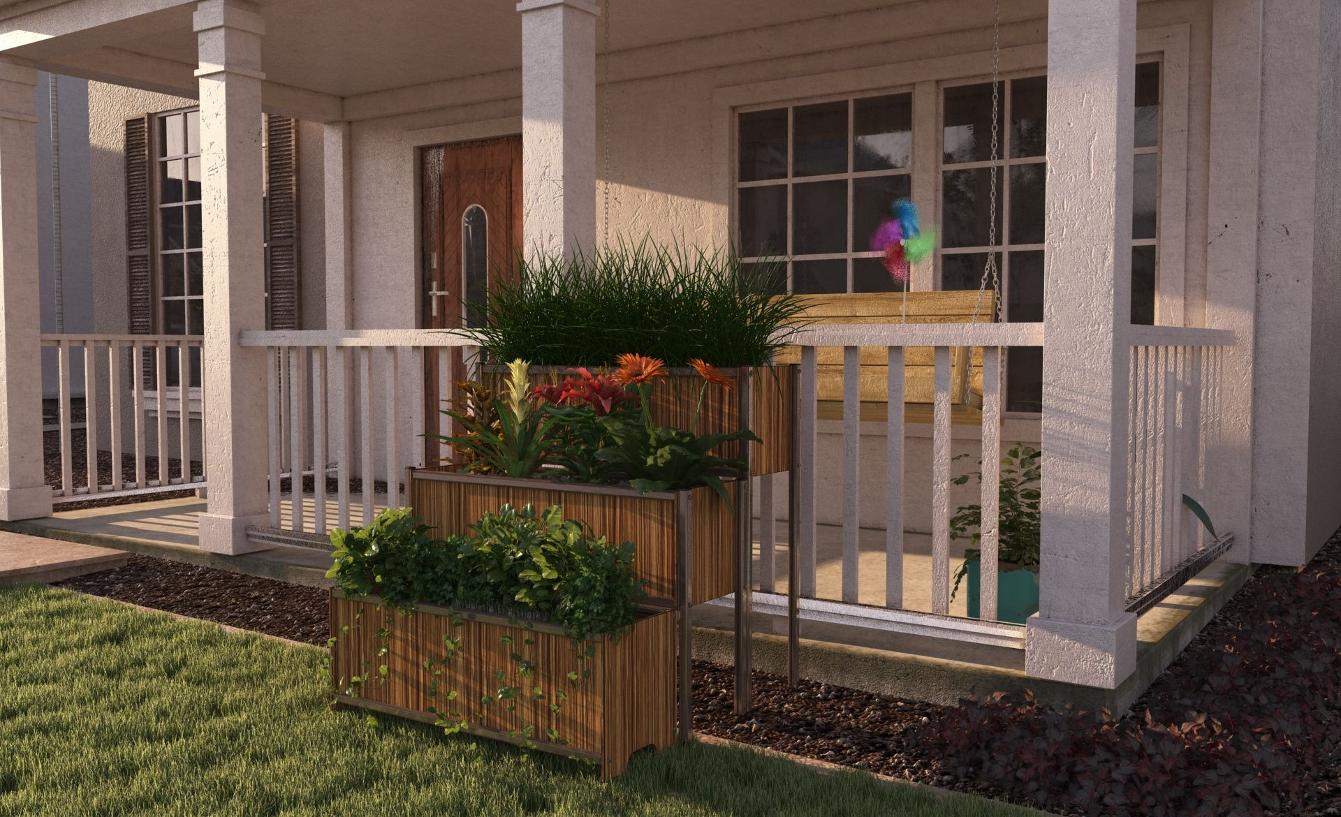 Planter Front Yard