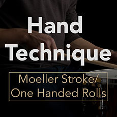 Hand Technique Moeller Stroke: One Hande