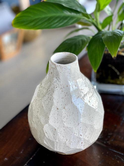 White Rustic Vase