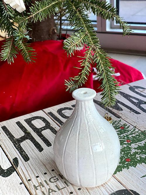 Small Glossy White Vase