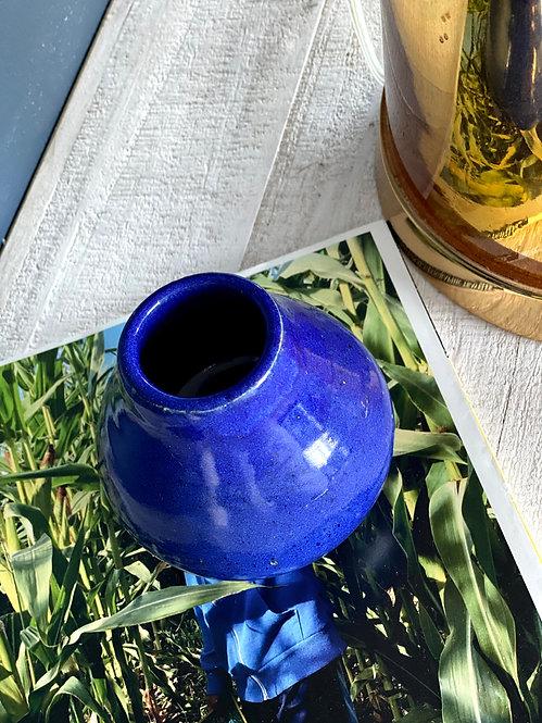 Small Glossy Navy Blue Vase