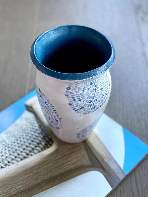 Blue Fireworks Vase