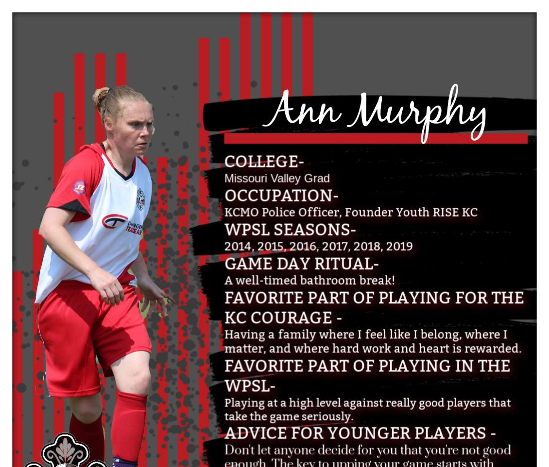 Ann Murphy, Jerry Yeagley Award, WPSL