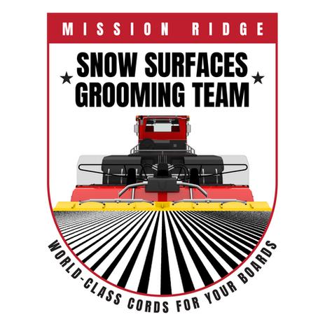Mission Ridge Snow Surfaces Grooming Team Logo