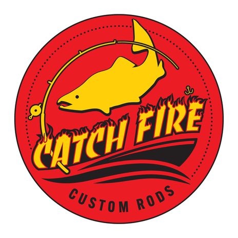 Catch Fire Custom Rods Logo