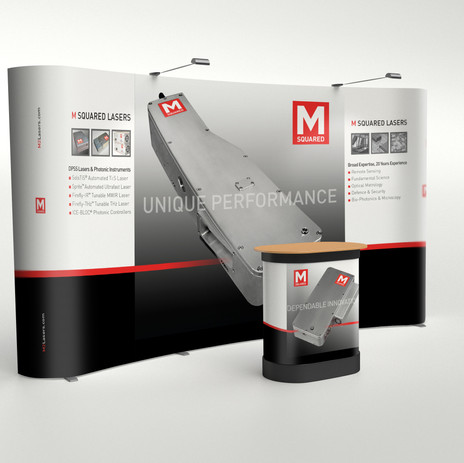 M Squared Lasers Exhibition Wall