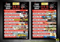 Flyer Foire du livre Brive 2013
