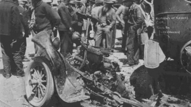 Remains of Kehoe's Ford truck after the explosion