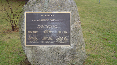 Plaque at the entrance of James Couzens Memorial Park