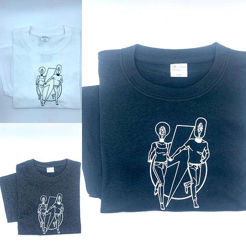 555 T-shirt - Black, White or Grey