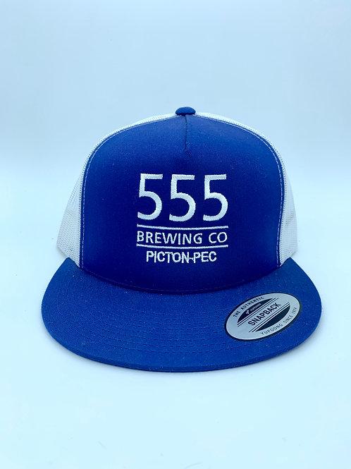 555 Blue & White Mesh Back Hat