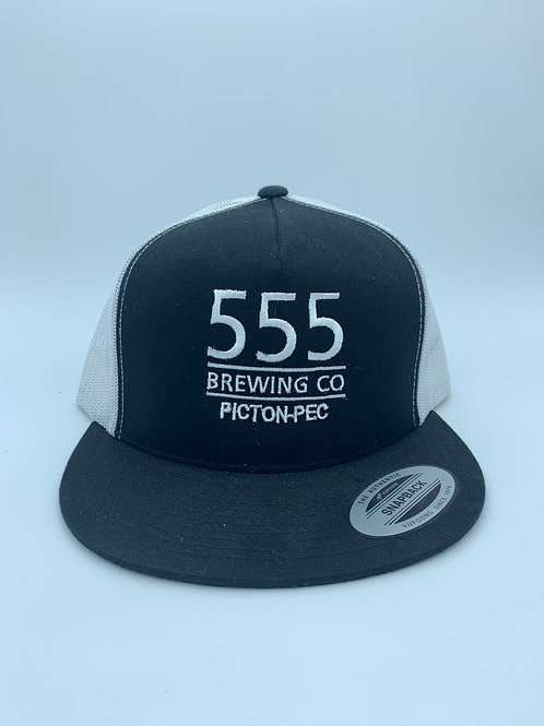 555 Navy or Black & White Mesh Back