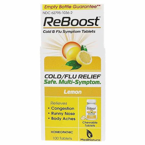 Reboost Cold And Flu Tablet Lemon