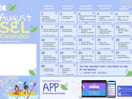 August SEL Calendar is here!