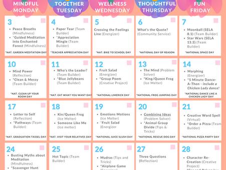 The Kikori May 2021 SEL Calendar!