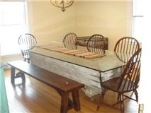 Grain troth and glass make a great table!