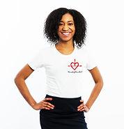 black woman wearing tshirt