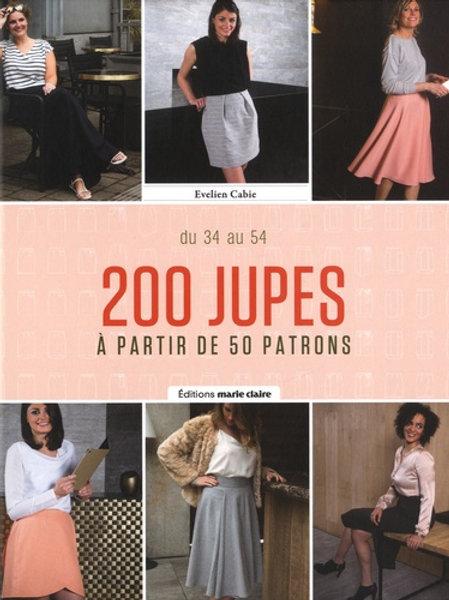 200 jupes à partir de 50 patrons - Tailles 34 à 54. Avec patrons