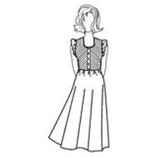 Robe Emmanchures Volantées T. : 36-46