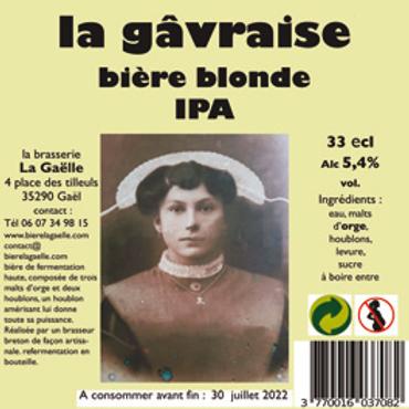 Pack de 24 Gâvraise bière blonde IPA