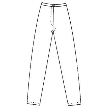 Pantalon Droit Sans Poche T. : 36-46