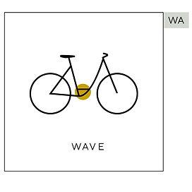 Wave ramme sykkel