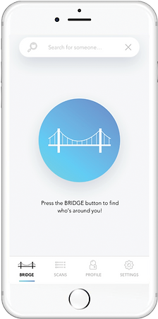 application mobile bridge page d'accueil