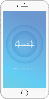 scan en cours application mobile bridge
