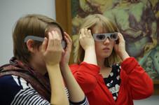 """Wie fühlt sich ein Museumsbesuch an, wenn man schlecht oder fast gar nichts sieht? Simulation von Augenkrankheiten im Projekt """"Blind im Museum – wie geht das?"""" (Museum am Dom Würzburg, Wise 2014,15)"""
