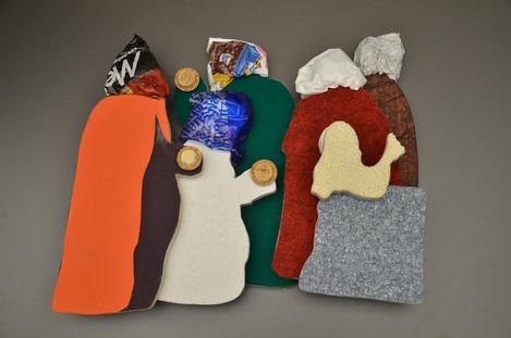 """Tastmodell zur """"Anbetung der Könige"""" von Eckart Hahn im Museum am Dom (Projekt """"Blinde im Museum – wie geht das?"""", Wise 2014,15)"""