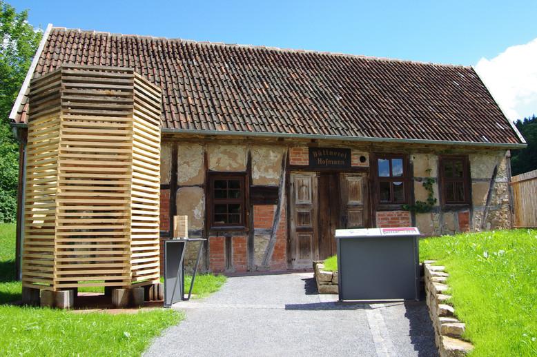 Die Büttnerei aus Sulzthal im Fränkischen Freilandmuseum Fladungen, eröffnet 2017.