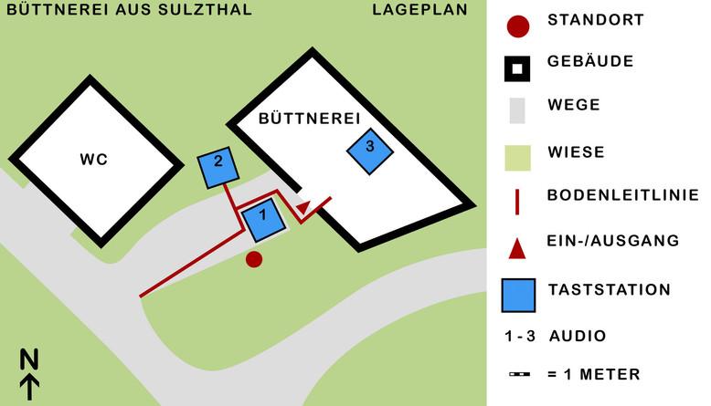 Taktiler Lage- und Orientierungsplan. Entwurf der 3D-Tastgrafik.  © ArcTron 3D GmbH (2020)