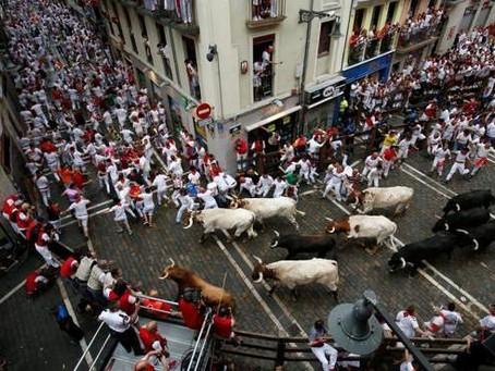 """Cinco""""Heridos"""" por toros en el inicio de San Fermín"""