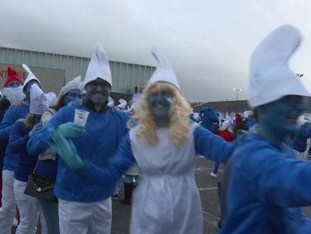 VIDEO: PITUFOS DESAFÍAN AL CORONAVIRUS EN FRANCIA