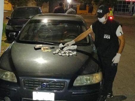 Detuvieron a un hombre con 87 gramos de cocaína
