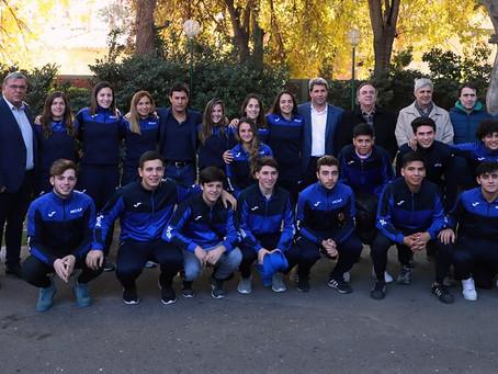 Selecciones de hockey sobre patines agradecieron su apoyo al gobernador Uñac