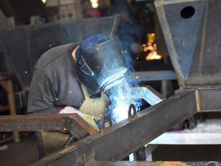 La industria metalúrgica casi parada por la crisis