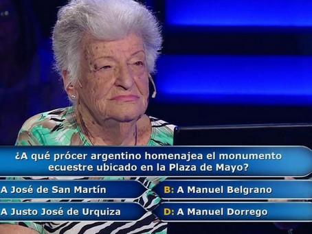 Participante de 100 años se lleva 300.000 pesos en el programa ¿ Quién quiere ser millonario?