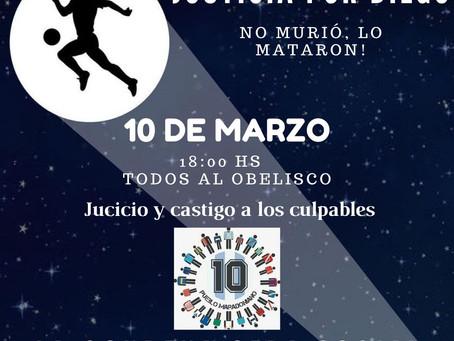 """Convocan a una marcha para pedir justicia por Maradona: """"Diego no murió, lo mataron"""""""