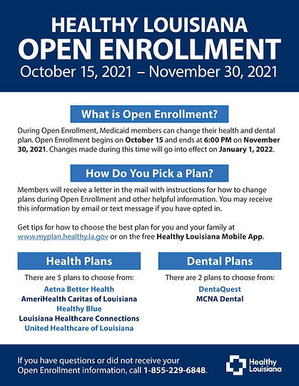 Healthy LA Open Enrollment Flyer 10-15 to 11-30-21