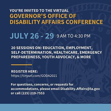 GODA Conference July 26-29 Register at https://tinyurl.com/GODA2021