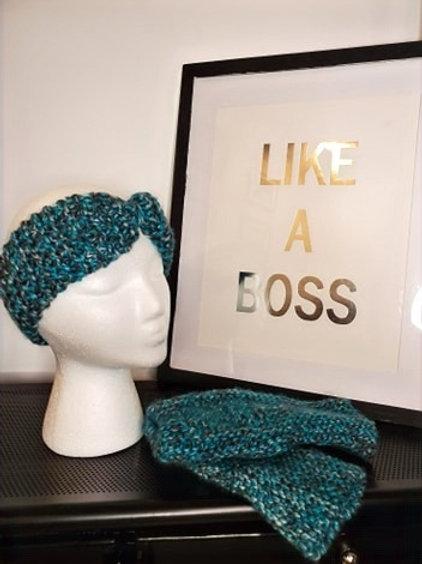 Headband & Fingerless Mitt Set