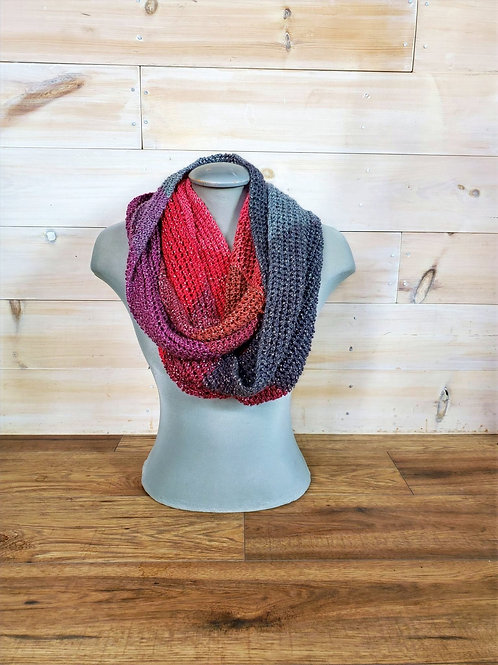 Eternity Scarf- Red Nights