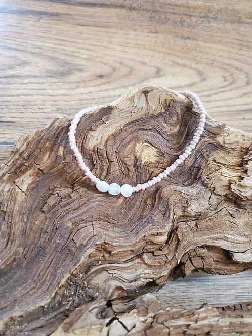 Pink Moonstone Bracelet