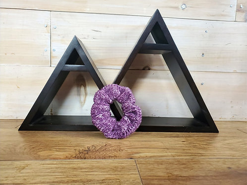 Classic Scrunchie- Purple Denim