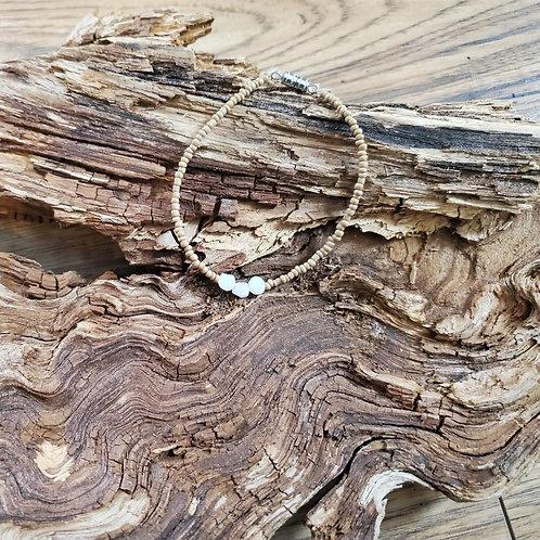 Brown & Moonstone Bracelet